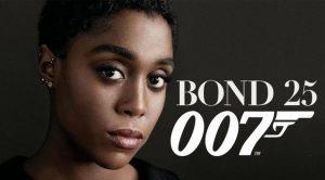 Femme L'actrice britannique d'origine jamaïcaine Lashana Lynch pose pour le prochain James Bond