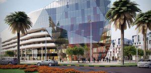 Un immeuble ultra moderne de diamniadio, un Sénégal émergent et numérique