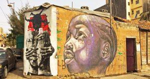 Des graffitis à Dakar