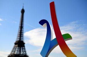 Le logo de la ville de Paris pour les JO 2024